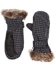Ziener LED – Manoplas de esquí infantiles, otoño/invierno, mujer, color grey pepita, tamaño 7