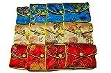 Romote Femmes 12 X soie Porte-Monnaie Bijoux Pochette Sacs cadeaux Porte-multicouleur (Multicolores)