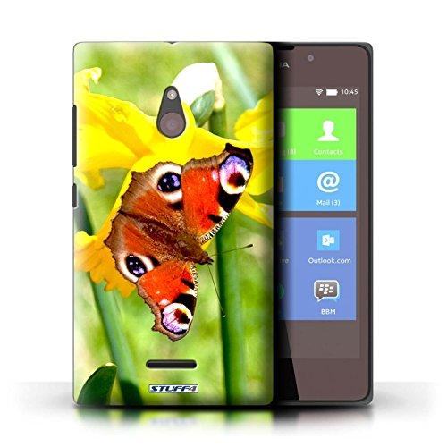 Kobalt® Imprimé Etui / Coque pour Nokia XL / Begonia conception / Série floral Fleurs Papillon