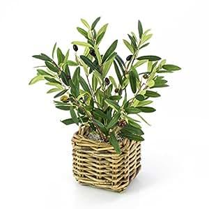 artplants k nstliches olivenb umchen alberto im flechtkorb 40 cm kunstbaum deko baum. Black Bedroom Furniture Sets. Home Design Ideas