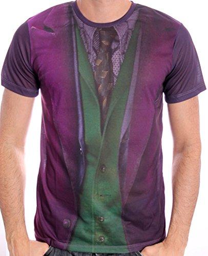 Batman: The Dark Knight - Joker Costume Full Printed Men T-shirt - Purple