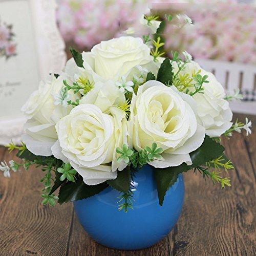 Eine moderne, minimalistische Möbel orb Vasen Schreibtisch eine kleine frische Blumen Emulation Suite Wohnzimmer setup für, GH Blumen verbringen.