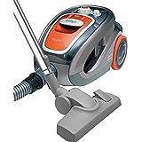Ufesa AS5200 Optima - Aspirador sin bolsa, cepillos especiales para parquet y para mascotas, filtro HEPA antialérgico, color naranja y gris