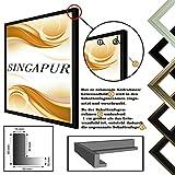 Schattenfugenrahmen SINGAPUR für Leinwand,- Keilrahmenbilder, Schwarz matt, 60x80 cm