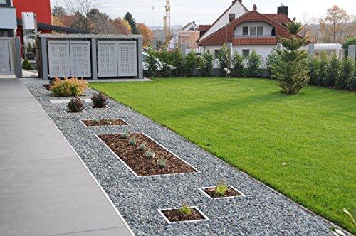 Reinkedesign Rasenkante aus Edelstahl starr 100 cm x 20 cm mit Sichtkante