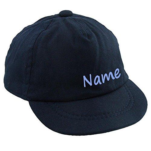 Baby CAP mit Namen oder Text personalisiert dunkelblau 1-2 Jahre