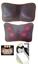 GMMH Infrarot Massagegerät für Schultern und Nacken für Auto und Zuhause Shiatsu Massage Kissen Verspannungen Rücken