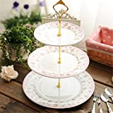 #10: Gold/Silver 3 or 2 Tier Cake Plate Stand Handle Crown Fitting Rod Wedding Party New