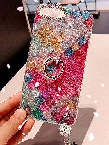 Cover iPhone 6S,Cover iPhone 6,Custodia iPhone 6S / iPhone 6 Cover,ikasus® Diamanti di cristallo lucidi Glitter Modello diamante colorato con pendente in nappa di Kickstand dellanello custodia per iP Squame di pesce