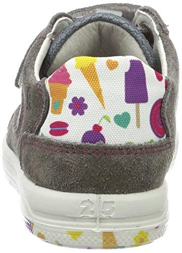 Ricosta Flo, chaussons d'intérieur fille Grau (grafit/Multi)