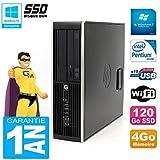 HP PC Compaq Pro 6200 SFF Intel G840 RAM 4GB 120 Gb SSD DVD-Brenner WiFi W7