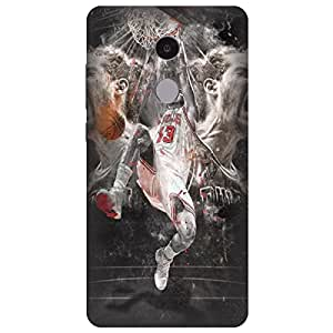 Citydreamz Basketball Game Hard Polycarbonate Designer Back Case Cover For Xiaomi Redmi Mi Note 4