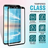 SGIN Galaxy S8 Plus Screen Protector, [2 Pack] HD Clear Samsung Galaxy S8 Plus Tempered Glass Screen Protector, Anti-Fingerprint, Bubble Free, Anti Shatter 9H Hardness Protector Film - Black