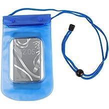 DURAGADGET Funda Impermeable Azul Para Smartphone BQ Aquaris X5 Plus / E4 / E4.5 / E5s / E5 FHD - Sumergible