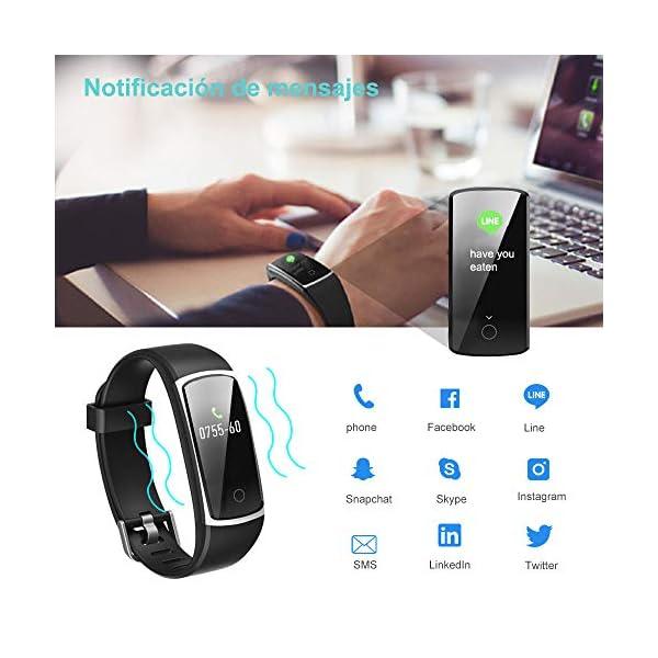 YAMAY Pulsera de Actividad Inteligente Impermeable IP68 con 14 Modos de Deporte,Pulsera Inteligente con Pulsómetro, Blood Pressure, Sueño,Podómetro,Pulsera Deporte para Android y iOS Teléfono móvil 7