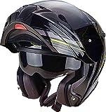 Scorpion Helm Motorrad exo-920Satellite, Black/Neon Yellow, 2x l