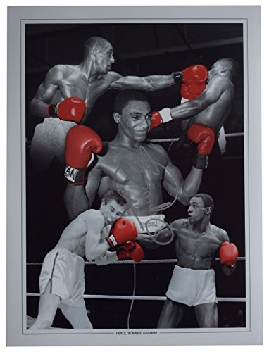 Sportagraphs Herol Bomber Graham Signed autograph 16x12 HUGE photo Boxing Sport AFTAL COA PERFECT GIFT
