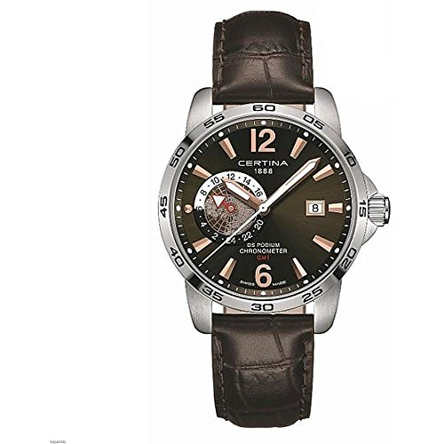 Certina Men's DS Podium GMT 41mm Leather Band Quartz Watch C034.455.16.087.01