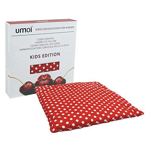UMOI Cuscino per bambini termico con noccioli di ciliegia all'interno e con rivestimento naturale in cotone 100% KIDS EDITION