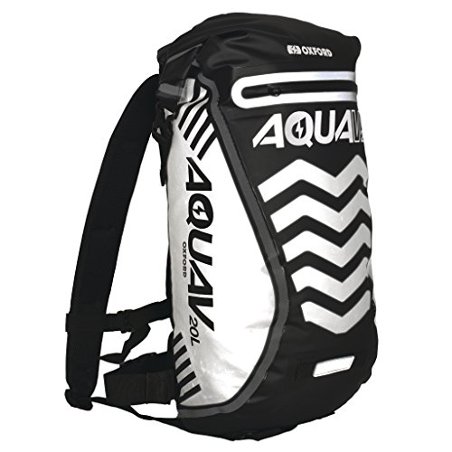 Oxford Aqua V 20 Extreme Visibility Waterproof Reflective Backpack - Black (Oxford Sport)