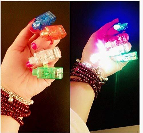 (Taschenlampen Beito Super-rechte Finger - LED-Finger-Lampen - Rave-Finger-Lichter, Packung 8)