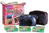 Fuji Instax 100 Kleinbildkamera mit Tasche und Film
