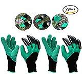 Garten Genie Handschuhe mit Krallen für Graben & planting-gardening Handschuhe Schnell und einfach zu beschneiden, Graben und die Pflanze für Rose 2Paar