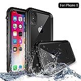iPhone X Wasserdicht Hülle, NewTsie Schutzhülle Ganzkörper Rugged Schale Case [Staubdicht] [Wasserdicht] [Stoßfest] mit eingebautem Displayschutzfolie für Apple iPhone X / iPhone 10 2017 Release (T-Schwarz)