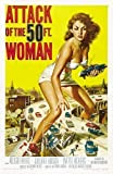 Attack of The 50 ft Woman Large Vintage Film Poster 2 - Super A1 Size 24 x 36 ins