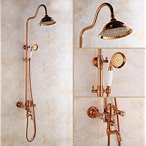 Generale di rame europea Rose Gold Diamond set doccia Shower tap