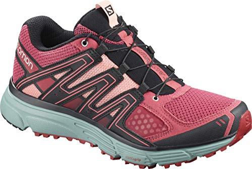 Salomon Damen Trailrunning-Schuhe, X-MISSION 3 W, Farbe: Rosa/Blau (Garnet Rose/Trellis/Coral Almond), Größe: 40 2/3 -