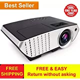 Boss S3 A BOSS LED Portable Projector With USB Connectivity, Remote Controlled 1080P For Home Cinema