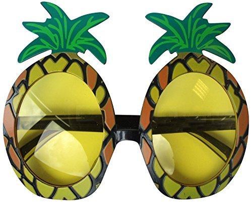 Hawaii Ananas Sonnenbrille Brille Hula Erwachsene Kostüm geschnürt Kostüm Zubehör