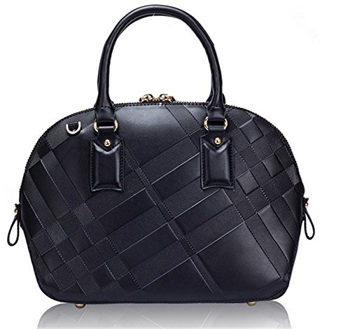 Xinmaoyuan Sacs à main pour Femme Sac à main en cuir gaufré sac à main Shell Sac Grande Capacité Black