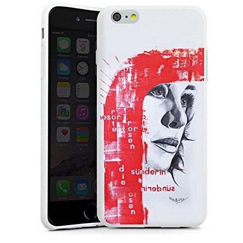 Apple iPhone X Silikon Hülle Case Schutzhülle Frau Gesicht Art Silikon Case weiß