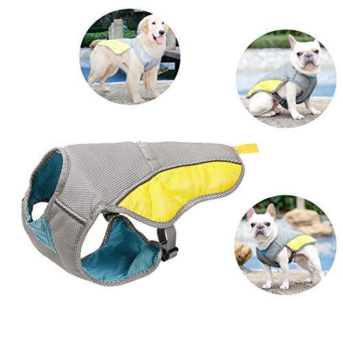 Tineer Pet Cooling Vest, reflektierende Weste Dog Jacket Cooler Summer für kleine mittelgroße Hunde, Wandern, Klettern, Sport (XS)