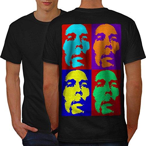 Marley Pot Star Berühmtheit Bob Marley Herren L T-shirt Zurück | Wellcoda (Teppich Von Shirt Authentisch)