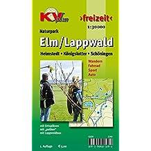 Elm / Lappwald: Wander- und Freizeitkarte mit Radrouten und Wanderwegen 1:30.000 + Ortspläne von Schöningen Helmstedt Königslutter 1:12.500 (KVplan Harz-Region / http://www.kv-plan.de/Harz.html)