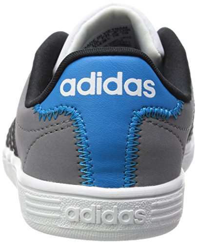 adidas Vlcourt K, Chaussures de Running Compétition Homme Gris - grau (Grey/Cblack/Solblu)