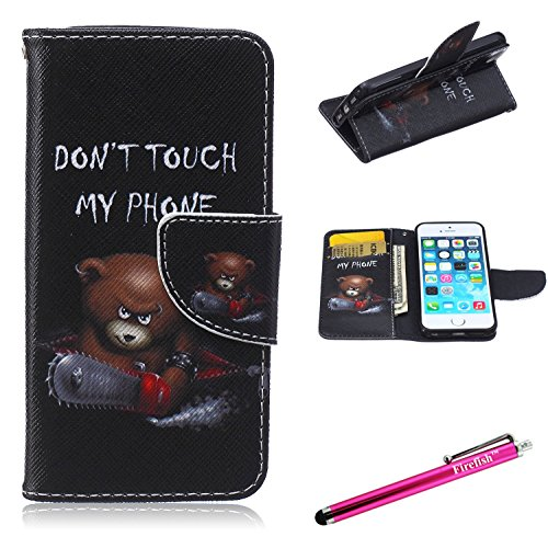 Firefish iPhone 6S Case, iPhone 6 Wallet Case [Ständer] [Bumper] PU-Leder schützende Haut Magnetverschluss für Apple iPhone 6/6S 11,9 cm, iPhone 6/6S 4.7