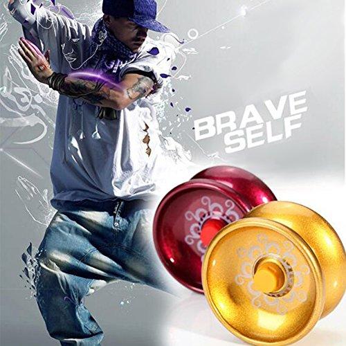 Zantec Cool Alloy Aluminium Design Yoyo, High Speed ??Professional YoYo Ball, String Trick Yo Yo Kinder Magic Jonglage (Kostüm Schildkröte Baby Muster)