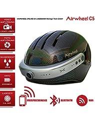 Casco con Bluetooth, manos libres de cámara de acción, Airwheel C5. XL tamaño (tamaño de la cabeza 59–63cm), color: color negro. garantía de 24meses