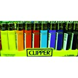 10 coloured clipper lighters standard size