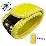 Vikoo Premium Mückenschutz abschreckendes Insekten-Armband mit 6 Nachfüllpackungen Kann am