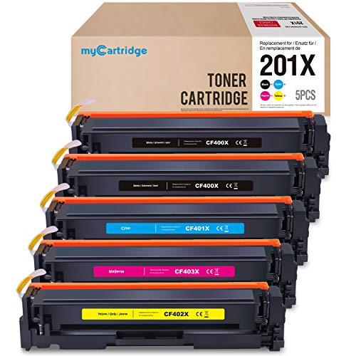 MyCartridge Toner Kompatibel HP 201X CF400X - CF403X Multipack toner für HP Laserjet Pro MFP M277dw M277N M274N M274DN M252N M252DN M252DW (2 Schwarz/1 Cyan/1 Magenta/1 Gelb) -
