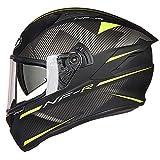 GTYW Motocross-Helm, Doppelscheibe, Laufhelm, FRP Antibeschlag-Linse, Track-Helm, City Scooter, Cruiser-Helm, ECE Zertifizierung, M-2XL, B, XXL=63