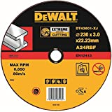 Dewalt DT43601-XJ - Pack de 10 pack de 10 discos abrasivos extreme para cortar metal plano 230x3,1x22,2 mm