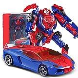 Yingjianjun Auto deformazione Giocattolo del Robot, Robot di deformazione, Car Robot Modello, Model Car Robot Spider Boy Child Animazione