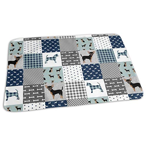 Tan Pet Quilt B Cheater Quilt Collection Dog Fabric, Baby Portable Reusable Changing Pad Mat 19.7