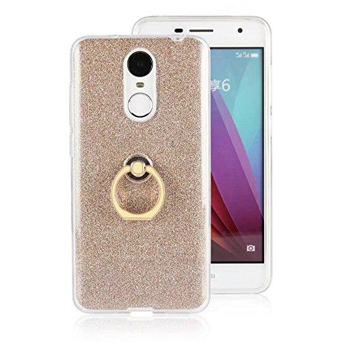 Soft Flexible TPU Back Cover Case Shockproof Schutzhülle mit Bling Glitter Sparkles und Kickstand für Huawei Changxiang 6 ( Color : Blue ) Gold